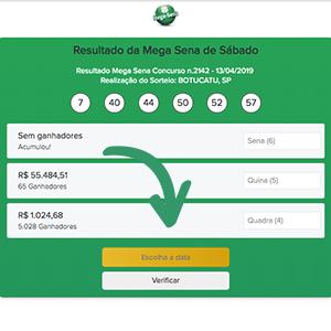 Como checar os últimos resultados da Mega-Sena - acesse a pagina da resultados